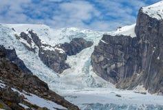 Gletscher auf dem Berg Stockfotos