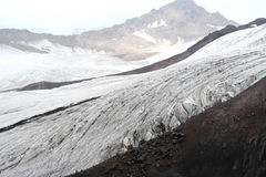 Gletscher auf dem Elbrus Lizenzfreies Stockbild