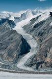 Gletscher auf Tadschikistan Stockbild