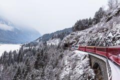 Gletscher ausdrücklich, die Schweiz Stockbild
