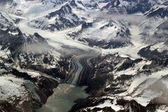 Gletscher, Berge und Eis Lizenzfreie Stockbilder