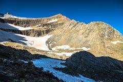 Gletscher in Cirque de Gavarnie in den zentralen Pyrenäen - Fran lizenzfreies stockfoto