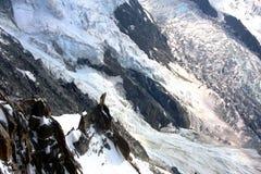 Gletscher in den französischen Alpen Lizenzfreie Stockbilder