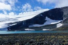 Gletscher an den jotunheimen in Norwegen lizenzfreies stockfoto