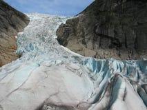 Gletscher in den norwegischen Bergen Lizenzfreie Stockfotos