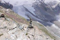 Gletscher in den Schweizer Alpen. stockfotografie