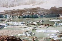Gletscher des Bergs Edith Cavell Lizenzfreie Stockfotografie