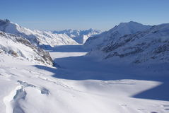 Gletscher die Schweiz Lizenzfreies Stockbild
