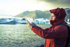 Gletscher-Eis Stockbild