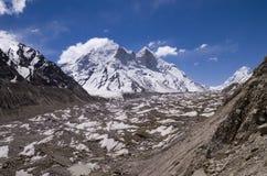 Gletscher Gangotri, Indien Stockbild