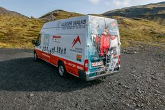 Gletscher geht Packwagen Lizenzfreies Stockfoto