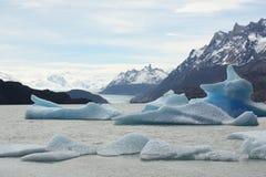 Gletscher-Grau, Patagonia Stockfotografie