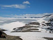 Gletscher Kenai Alaska Hardings Icefield und des Ausganges Stockfotos
