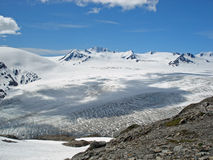 Gletscher Kenai Alaska Hardings Icefield und des Ausganges Lizenzfreies Stockbild