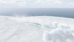 Gletscher-Knacken vektor abbildung