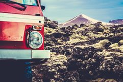 Gletscher-LKW in Island lizenzfreies stockbild