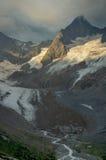 Gletscher am Morgen Lizenzfreies Stockfoto