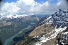 Gletscher Nastional-Park auf dem Luftweg Stockfotografie