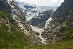 Gletscher in Norwegen stockbilder