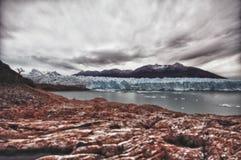 Gletscher Perito Moreno Stockfoto