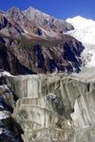 Gletscher am Rand des Berges der Klingel-GA in Sichuan China Lizenzfreie Stockbilder