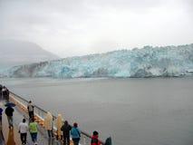 Gletscher-Schacht Alaska Stockfoto