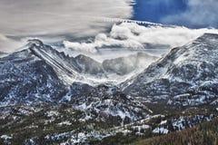 Gletscher-Schlucht im felsige Gebirgsnationalpark stockbilder