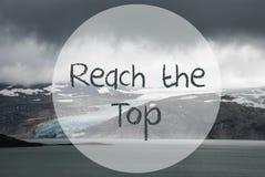 Gletscher, See, Text-Reichweite die Spitze, Norwegen stockbilder