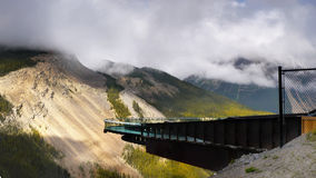 Gletscher Skywalk Kolumbien Icefields Lizenzfreies Stockbild