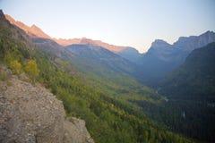 Gletscher-Sonnenuntergang Stockfotos