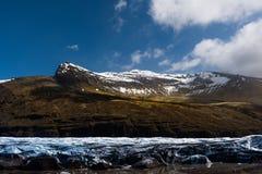 Gletscher in Sunny Iceland Lizenzfreies Stockfoto