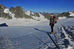 Gletscher-Trekking lizenzfreie stockfotografie