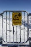 Gletscher Tuxer Ferner in Österreich, 2015 Stockfotografie