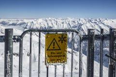 Gletscher Tuxer Ferner in Österreich, 2015 Stockbild