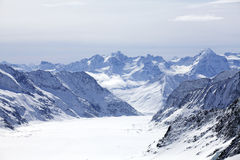 Gletscher und Berg Lizenzfreies Stockbild