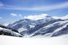 Gletscher und Berg Lizenzfreie Stockfotos