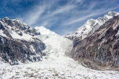 Gletscher unter dem Schneeberg Lizenzfreies Stockbild