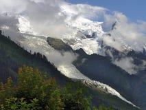Gletscher von Mont Blanc Stockfotografie