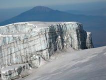 Gletscher von Mt. Kilimanjaro Stockfoto