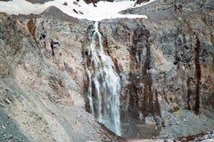 Gletscher-Wasserfall in Mt Rainier National Park Stockfotos