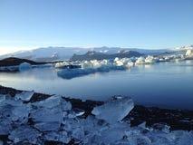 Gletscherblaulagune Stockbilder