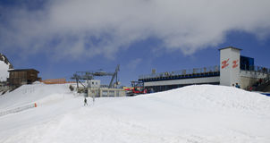 Gletscherbus 3 station at the Hintertux Glacier, A Stock Images