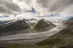 Gletscherdetails stockfoto