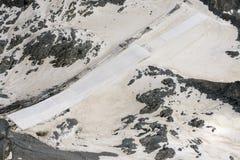 Gletscherschutzgerät auf Adamello-Strecke, Italien Stockfotografie
