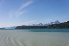 Gletschersediment in Alaska Lizenzfreie Stockbilder