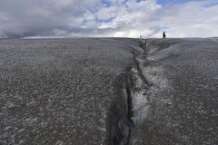 gletscherspalte stockbild