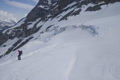Gletscherspalte in den Alpen von Italien stockfoto