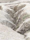 Gletscherspalte des trockenen Landes nahe Schlammvulkan Stockbild