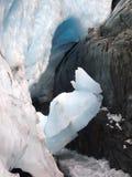 Gletscherspalte im Gletscher stockbilder