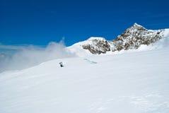 Gletscherspalten Lizenzfreie Stockfotos